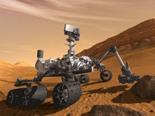 The Curiosity rover is currently exploring Mars. Image: NASA JPL Caltech