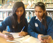 Monica Gupta, 14, (left) and Priya Patel, 13, from Tiffin Girls' School said the classes had made them realise how enjoyable maths can be.