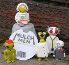 Hey, hey, we're the Mulch Men. Aimed at 8-12 year old boys these are the brainchild of Kingston University Product and Furniture Design student Arran Evans.