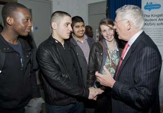 Kingston's student mentors and university club leaders were invited to hear Mr Hewer speak.