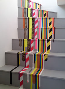 The designs for the planes will be similar to some of Pascal Anson's previous work – such as a multi-coloured staircase.