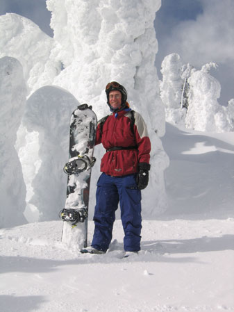 Vicar Neil Elliot is a snowboarding enthusiast.