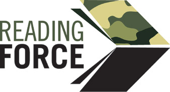 Logo of Reading Force, the scheme designed to bring Forces families together through sharing books.
