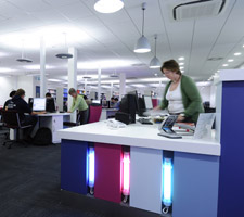 The Sir Sydney Camm Centre is the new library facility at Kingston University's Roehampton Vale campus.
