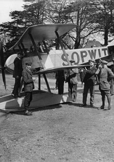 Kingston University students have been working with Marshall Aerospace to build a replica Sopwith Tabloid aircraft. Image from 1914 courtesy of BAE Systems.