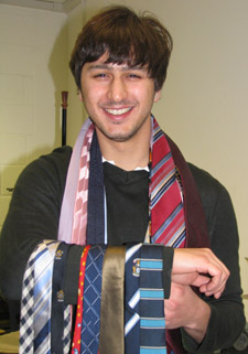 No need for these anymore! MA Design student Coskucan Gurun believes vast tie collections will be a thing of the past.