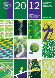 The official Wimbledon tennis poster is a combination of 12 designs by Kingston University students.