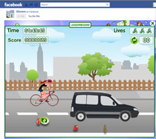 Cycle City, one of the games available on Kavita Patel's iGreen application.