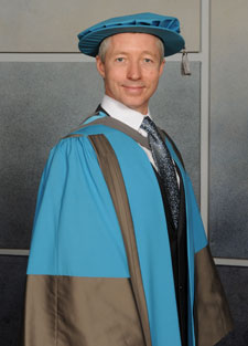 Paul Darnell received an Honorary Doctorate of Science for his contribution to the automotive engineering industry