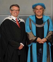 Professor Brian Cathcart, left, said Mr Greengrass had lifted the action movie genre to a new level.