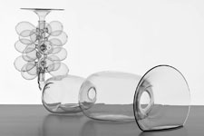 El Ultimo Grito's project Imaginary Architectures features blown-glass models.