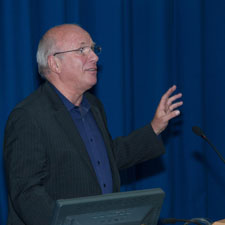 Former BBC boss Greg Dyke's talk was one of a series of lectures organised by Kingtson Business School.