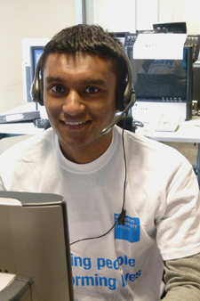 Kingston University hotline operator Abu Hassan credits Clearing with giving him the chance to pursue his studies in biomedical science.