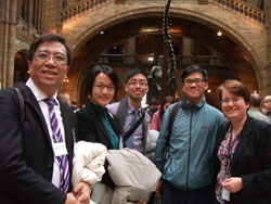 Visitors with Julie Harvey, Manager, NHM Centre for Arts and Humanities Research.