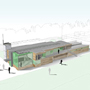 Artist's impression of the new sports pavilion