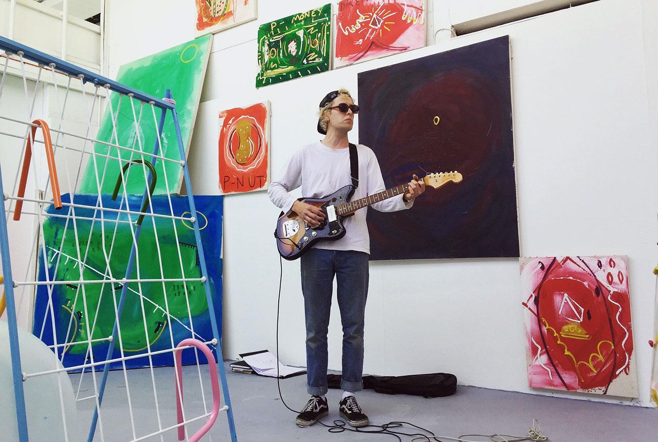 Harry plays guitar - Fine Art exhibition