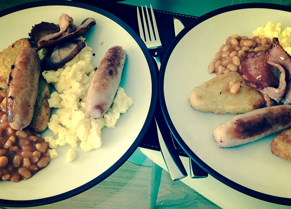 Who doesn't love a cooked breakfast? Especially when it is made for you!