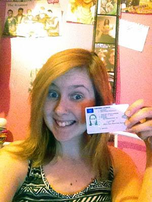 I got the pink licence!