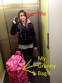 Rachel and her Granny Bag