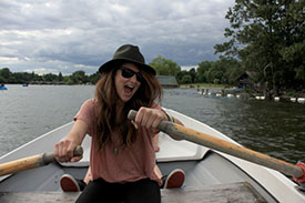 Rowing in Hyde Park