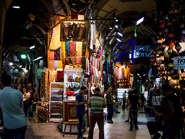 A market in Istanbul