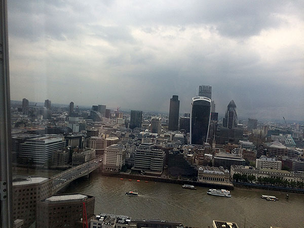 The beautiful view from the Shard