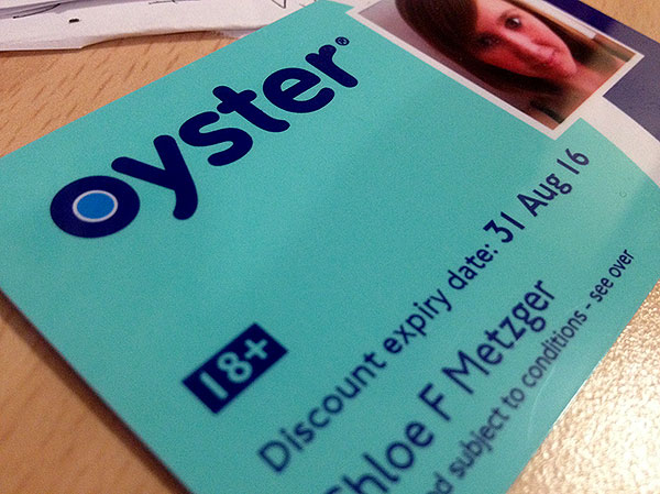Oyster card - a must for travelling around London