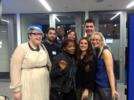 Me and some other student ambassadors meeting Bonnie Greer
