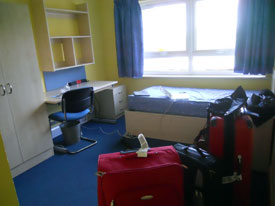 Clayhill Halls of residence room