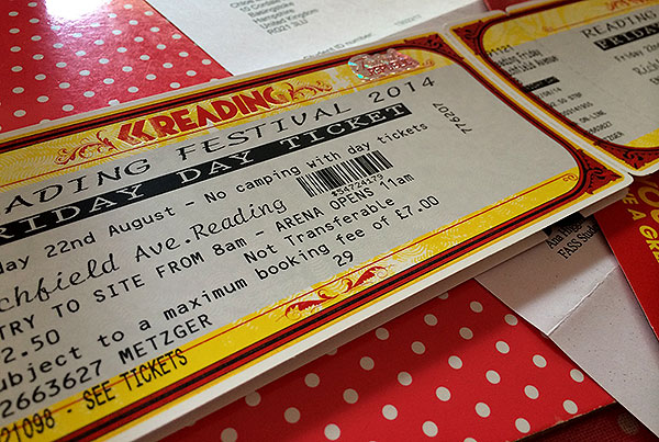 Tickets to the Reading Festival!