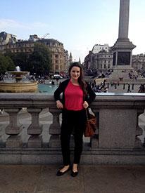 Posing at Trafalgar Square