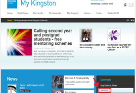 The jobshop link on My Kingston
