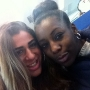 Me (right) and my friend Zara after a lecture - Kingston University London