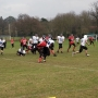 Running back, Marshal being tackled  - Kingston University London