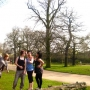My flatmates and I in Richmond Park in the Summer - Kingston University London