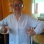 Trying on my lab coat - Kingston University London