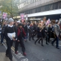 Student protest march for fees - Kingston University London