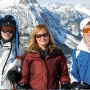 My mum, brother and me on a ski trip last year - Kingston University London
