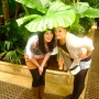 In the rainforest house in the Royal Botanical Gardens - Kingston University London