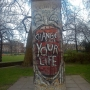 Artwork from the Berlin Wall at the Imperial War Museum  - Kingston University London