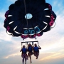 Parasailing in Ibiza, amazing! - Kingston University London