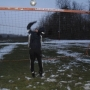 Playing football - the weather can not stop me - Kingston University London