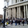 Visiting St Pauls in London during the Occupy London protests - Kingston University London