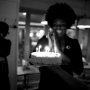 My friend Mary and her cake of many candles - Kingston University London