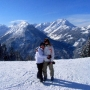 Me and a school friend skiing - Kingston University London