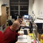 Busy working in the mac room with my friends - Kingston University London