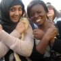 Me with my mate, waiting in the queue for X Factor auditions - Kingston University London