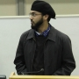 Taking the Podium for an AMSA event (Ahmadiyya Muslim Student Association) - Kingston University London