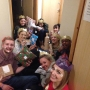 Me and some of my friends in halls, having our own Christmas day!  - Kingston University London